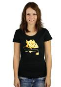 náhled - iDam černé dámské tričko
