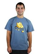 náhled - iDam modré pánské tričko