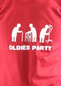 náhled - Oldies party červené pánské tričko