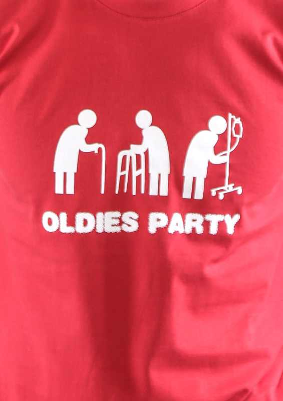 ... náhled - Oldies party červené pánské tričko ceea2e5edf