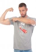 náhled - Svaly šedé pánské tričko