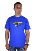 náhled - Zoubkovražda modré pánské tričko