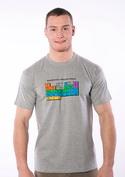náhled - Periodická tabulka šedé pánské tričko