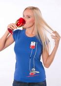 náhled - Komár modré dámské tričko