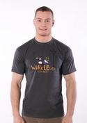 náhled - Bezdrát šedé pánské tričko