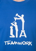 náhled - TeamWork modré pánské tričko