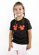 náhled - Veverky hnědé dětské tričko