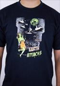 náhled - Země útočí tmavě modré pánské tričko