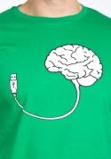 náhled - USB mozek zelené pánské tričko