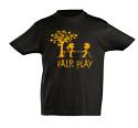 náhled - Fair play černé dětské tričko