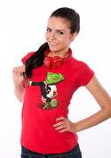 náhled - Mistr převleků červené dámské tričko