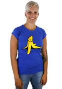 náhled - Banán zabiják modré dámské tričko