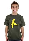 náhled - Banán zabiják khaki pánské tričko