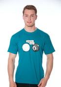 náhled - Koule modré pánské tričko