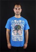 náhled - Moucha modré pánské tričko
