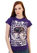 náhled - Moucha fialové dámské tričko