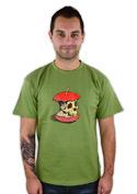 náhled - Dead Apple zelené pánské tričko