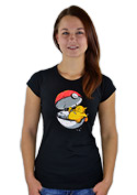 náhled - Konec pokémona černé dámské tričko