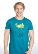 náhled - Zapnuto vypnuto modré pánské tričko
