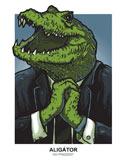 náhled - Aligátor zelené pánské tričko