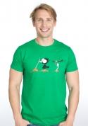 náhled - Nesprávný konec zelené pánské tričko