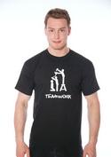 náhled - TeamWork černé pánské tričko