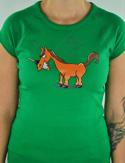 náhled - Jednorožec zelené dámské tričko
