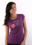 náhled - Rýmička fialové dámské tričko