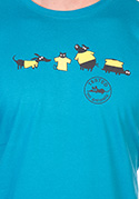 náhled - Testováno modré pánské tričko – nový střih