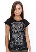 náhled - Matematik černé dámské tričko