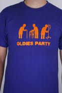 náhled - Oldies party modré pánské tričko
