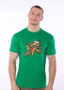náhled - Žížalovetřelec zelené pánské tričko