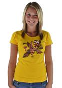 náhled - Žížalovetřelec žluté dámské tričko