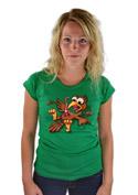 náhled - Žížalovetřelec zelené dámské tričko
