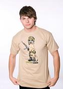 náhled - Surikata hnědé pánské tričko