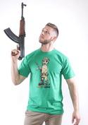 náhled - Surikata zelené pánské tričko