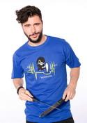 náhled - Boží zásah modré pánské tričko
