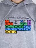 náhled - Periodická tabulka šedá pánská mikina