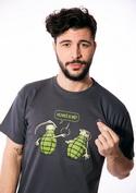 náhled - Granáty šedé pánské tričko
