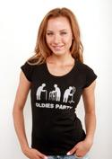 náhled - Oldies party černé dámské tričko raglán
