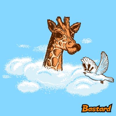 Žirafa v oblacích