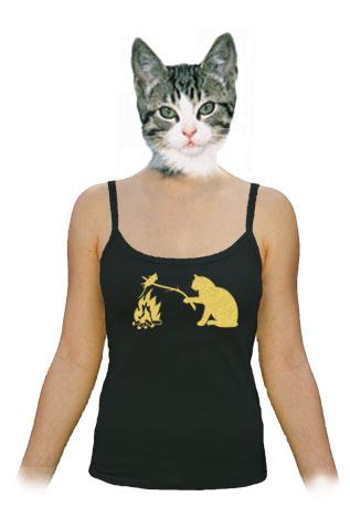 Kočka a myš dámské tílko
