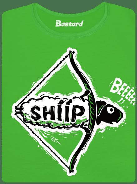 Bastard Shííp zelené dámské tričko