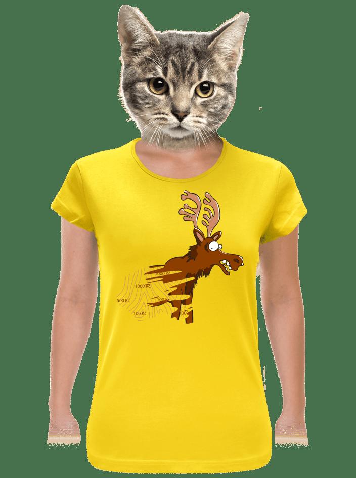 Stírací los žluté dámské tričko