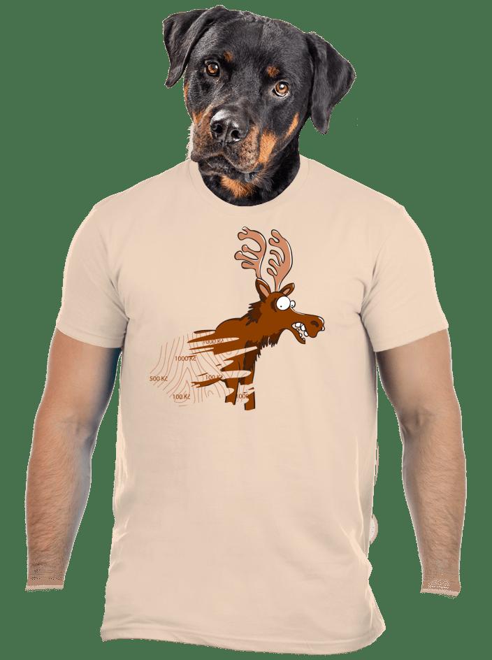 Stírací los hnědé pánské tričko