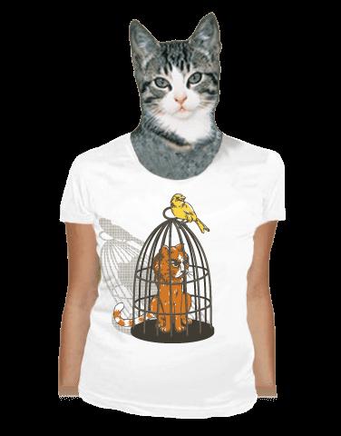 Odplata bílé dámské tričko