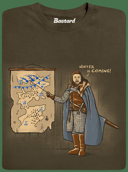 Bastard Winter is Coming zelené pánské tričko
