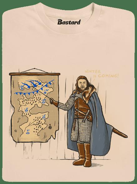 Bastard Winter is Coming hnědé pánské tričko
