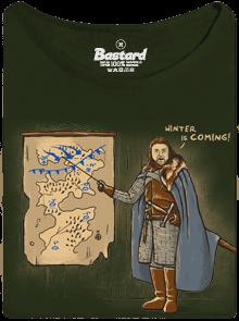 Bastard Winter is Coming zelené dámské tričko
