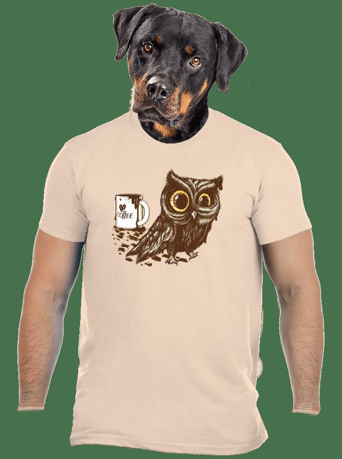 Sova na kofeinu pánské tričko - nový střih
